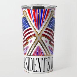 Stars And Presidents Day Flag Travel Mug
