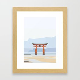 Floating torii, Itsukushina Shrine, Japan Framed Art Print
