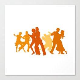 Tango Dancers Illustration  Canvas Print