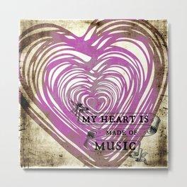 The Music Beat Metal Print