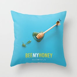 Bee My Honey Throw Pillow