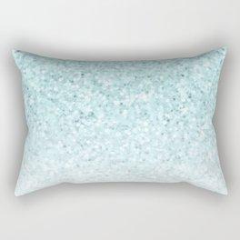 Pretty Turquoise Marble Sparkle Rectangular Pillow