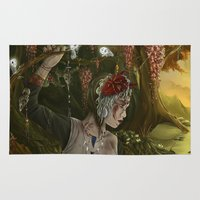 princess mononoke Area & Throw Rugs featuring mononoke by Devon Busby Busbyart