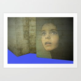 Girl Around Town 3 Art Print