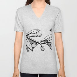 French Olives Unisex V-Neck