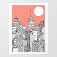 skyline Art Prints featuring Skyline  by  Steve Wade ( Swade)