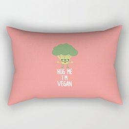 Vegan Broccoli Nerd T-Shirt for all Ages D545s Rectangular Pillow
