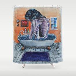 Bathtub Girl Shower Curtain