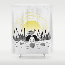 Water girl Shower Curtain