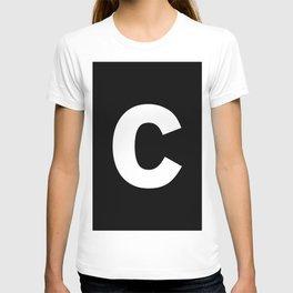 letter C (White & Black) T-shirt