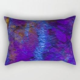 Purple Blue abstract marble Rectangular Pillow