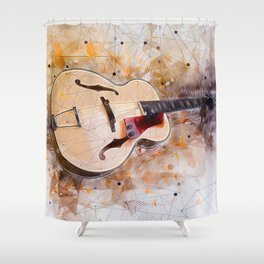 Electric Guitar Art Shower Curtain