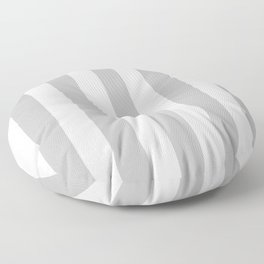 Silver grey - solid color - white vertical lines pattern Floor Pillow