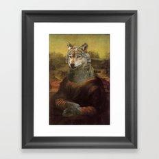 Furry Monnalisa  Framed Art Print