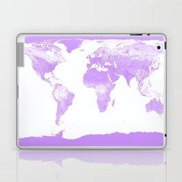 wOrld Map Lavender Laptop & iPad Skin