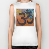 om Biker Tanks featuring Om by Michael Creese