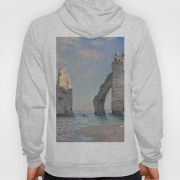 The Rock Needle and the Porte d'Aval by Claude Monet Hoody