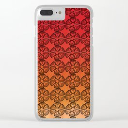 Doodle flowers Clear iPhone Case