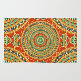 Mandala of Happyness, Health and Wealth Rug