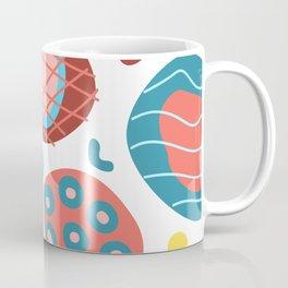 Colorful Irregular Shapes Circles Lines and Dots Coffee Mug
