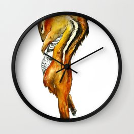 Exquisite Corpse: Chipmunk Wall Clock