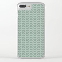 Silt Green Green Leaves Clear iPhone Case