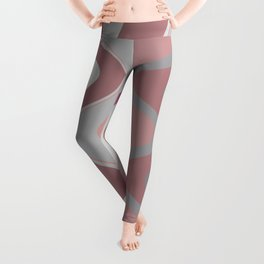 Distorted stripes in colour 4 Leggings