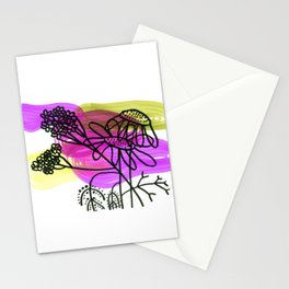 Flowers Marker No.: 03. - magenta and yellow Stationery Cards