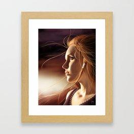 The sun's consolation Framed Art Print