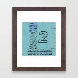 Ilium Public Library Card No. 2 Framed Art Print
