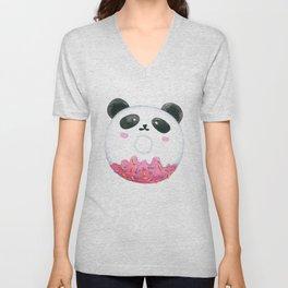 Panda Donut Art Work Unisex V-Neck