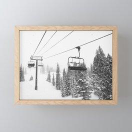 Pow Skiing in Contrast Framed Mini Art Print