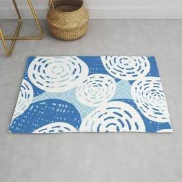 Blue Ocean Pattern  Rug