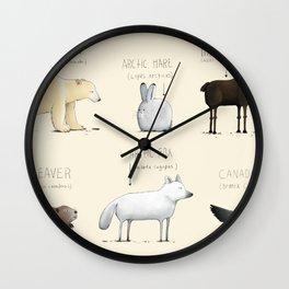 Canadian Animals Wall Clock