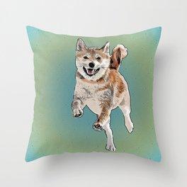 Shiba Time Throw Pillow