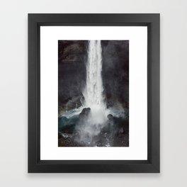 Háifoss Framed Art Print