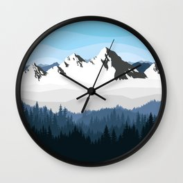 Alaska Winter Wall Clock