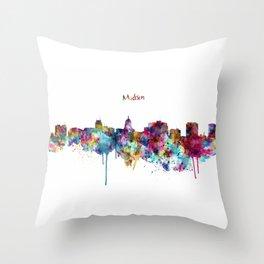 Madison Skyline Silhouette Throw Pillow