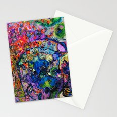 Youthful Discretions - Abstraction Improvisational Painting Stationery Cards