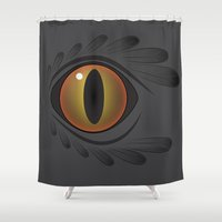 crow Shower Curtains featuring Crow by Covered In Moons
