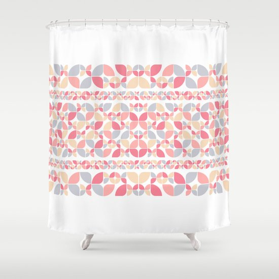 Soft Spring Pattern Shower Curtain