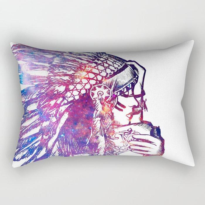Space Indian Rectangular Pillow