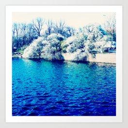 Blau Art Print