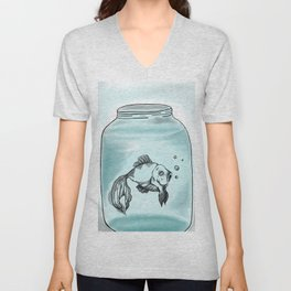Jar Fish Unisex V-Neck