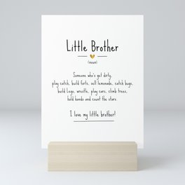 Little Brother • Definition | Quote Mini Art Print
