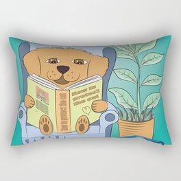 Dog Reading Rectangular Pillow