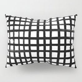 Hand-painted Grid Pillow Sham