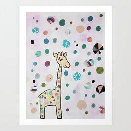 Nursery Art Cute Kawaii Giraffe Art Print