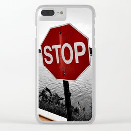 Iterations of a Stop Sign #2: Desaturate Clear iPhone Case