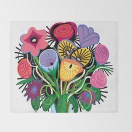 Yelapa Flowers Throw Blanket